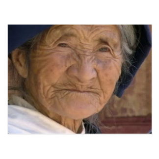 Thanks MOM Old Woman Chinese Yunnan province Postcard