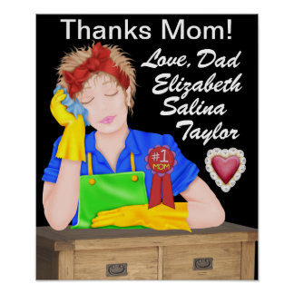Thanks Mom Poster - SRF