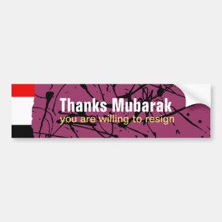 Thanks Mubarak Bumper Sticker