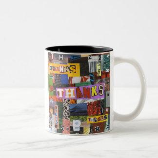 Thanks - multi Two-Tone coffee mug
