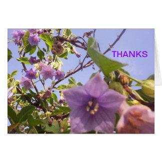 thanks notecard lavendar I Stationery Note Card