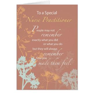 Thanks Nurse Practitioner, NP Week, Brown Card