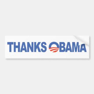 Thanks Obama Bumper Sticker
