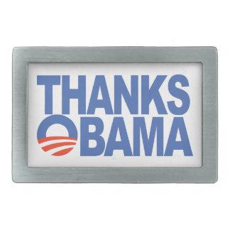 Thanks Obama Rectangular Belt Buckles