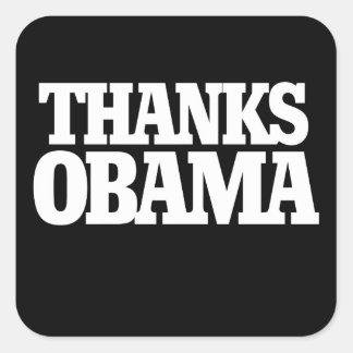 Thanks Obama Square Sticker