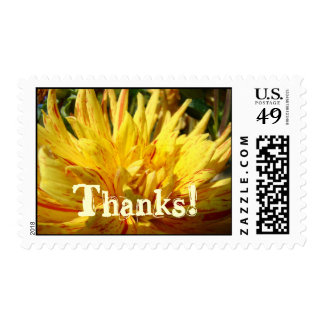 Thanks! postage stamps Yellow Dahlia Flowers
