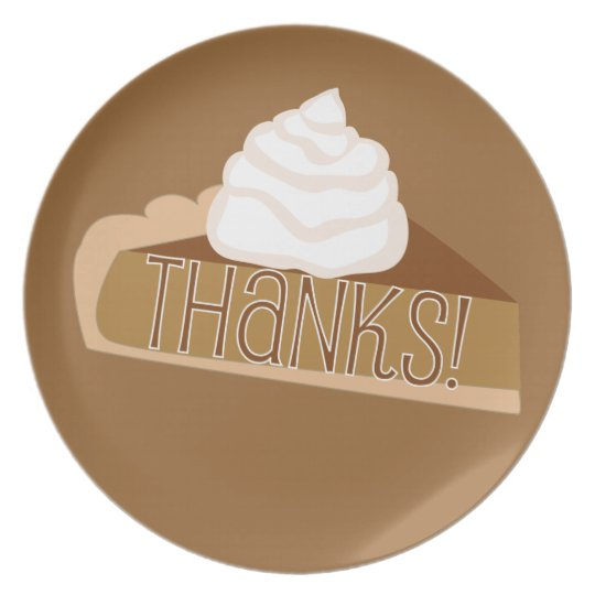 Thanks! Pumpkin Pie Thank you Plate