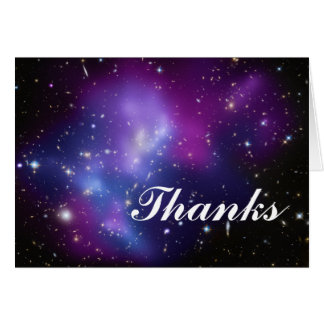 Thanks Purple Galaxy Cluster Stationery Note Card