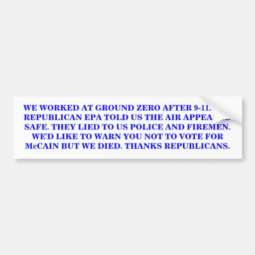 THANKS REPUBLICANS. CAR BUMPER STICKER