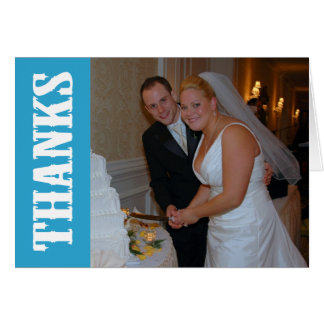 Thanks Shoot Out Thank You Notecard (Blue) Stationery Note Card