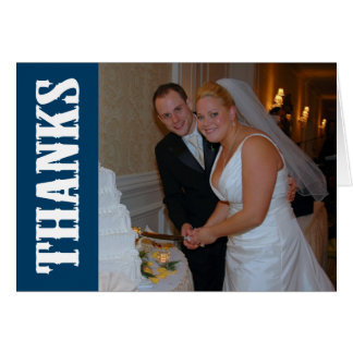 Thanks Shoot Out Thank You Notecard (Navy Blue) Stationery Note Card