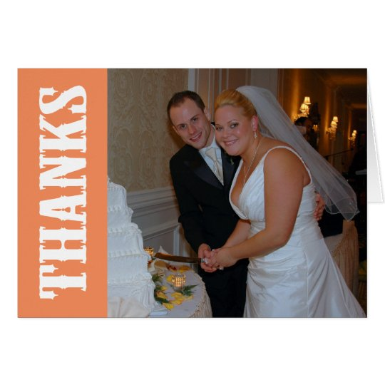Thanks Shoot Out Thank You Notecard (Orange)