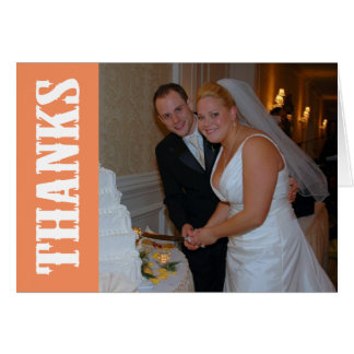 Thanks Shoot Out Thank You Notecard (Orange) Stationery Note Card