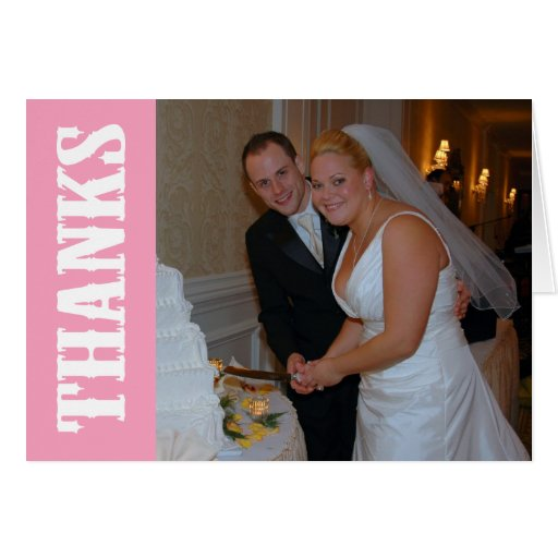 Thanks Shoot Out Thank You Notecard (Pink)