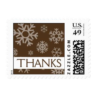 Thanks Snowflakes Christmas Stamps (Brown)