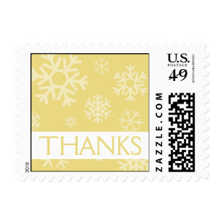 Thanks Snowflakes Christmas Stamps (Gold)