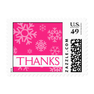 Thanks Snowflakes Christmas Stamps (Hot Pink)