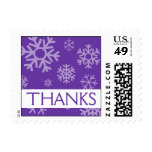 Thanks Snowflakes Christmas Stamps (Purple)