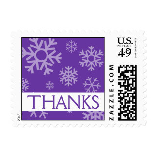 Thanks Snowflakes Christmas Stamps (Purple)