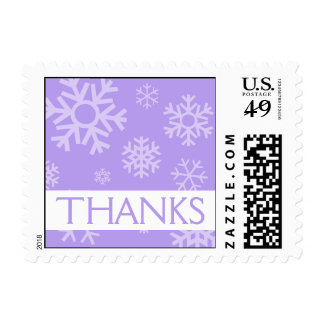 Thanks Snowflakes Christmas Stamps (Violet)