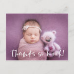 Thanks So Much | White | Baby Photo Thank You Postcard