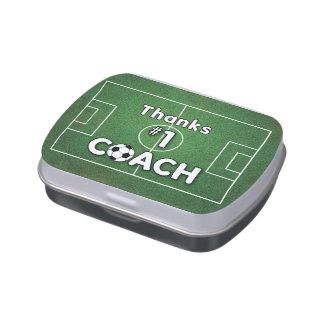 Thanks Soccer Coach Grass Field Candy Tins