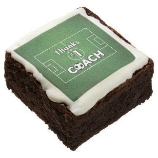 Thanks Soccer Coach Grass Field Chocolate Brownie