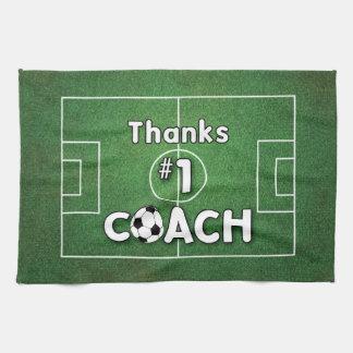Thanks Soccer Coach Grass Field Hand Towel