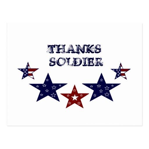 THANKS SOLDIER POSTCARD