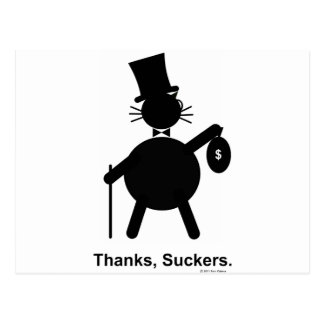 Thanks,Suckers Postcard