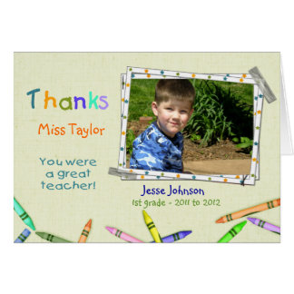 Thanks Teacher Custom Photo/Name Card