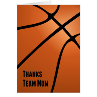 Thanks Team Mom, Basketball, Helping the Team Card