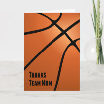 Thanks Team Mom, Basketball, Helping the Team Thank You Card