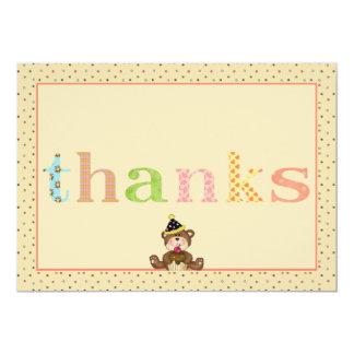 Thanks Teddy Bear Notecard