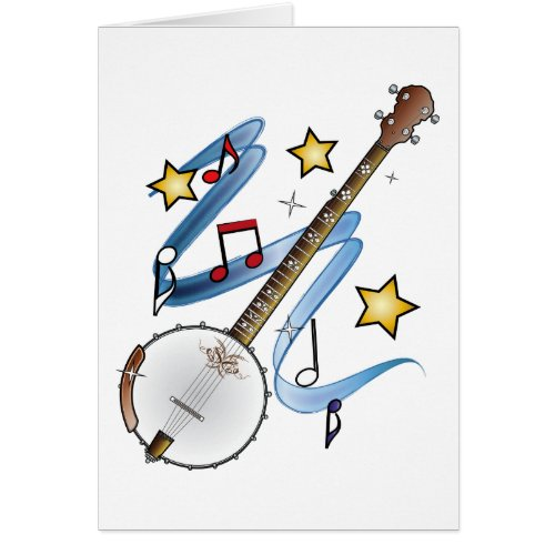 Thanks to a Banjo Teacher Greeting Card