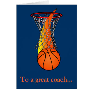 Thanks to a Basketball Coach for a Great Season Greeting Card