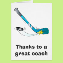 Thanks to a Great Hockey Coach Card