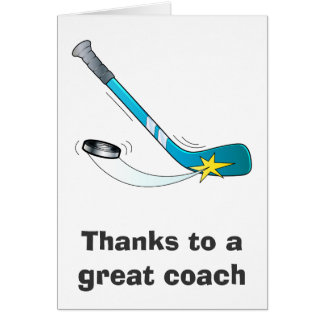 Thanks to a Great Hockey Coach Greeting Card