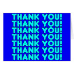 Thanks to Him  Cool Boys & Men Cyan Blue Thank You Stationery Note Card