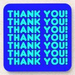 Thanks to Him  Cool Boys & Men Cyan Blue Thank You Coasters