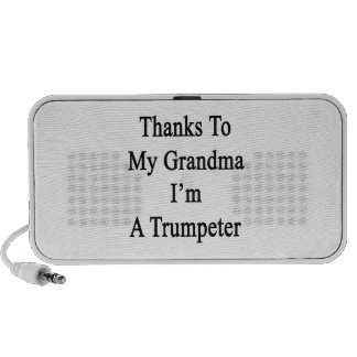 Thanks To My Grandma I'm A Trumpeter. Notebook Speakers