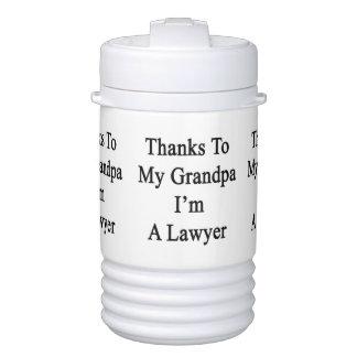 Thanks To My Grandpa I'm A Lawyer Igloo Beverage Dispenser