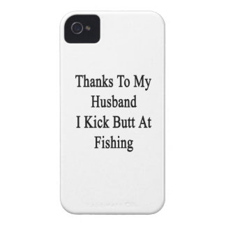Thanks To My Husband I Kick Butt At Fishing iPhone 4 Case-Mate Case