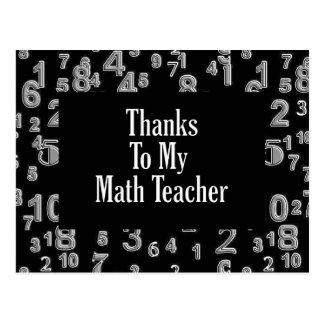 Thanks To My Math Teacher Post Card