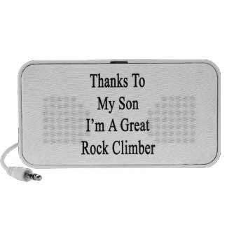 Thanks To My Son I m A Great Rock Climber Mp3 Speaker