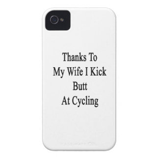 Thanks To My Wife I Kick Butt At Cycling iPhone 4 Case