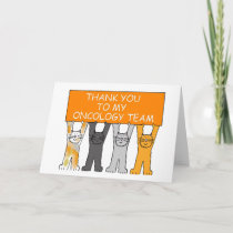 Thanks to Oncology Team Leukemia Support Cats. Card