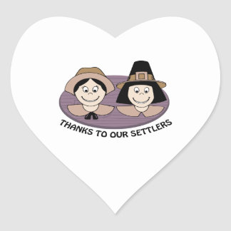 Thanks to our Settlers Heart Sticker