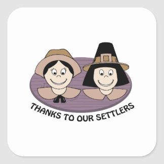 Thanks to our Settlers Stickers