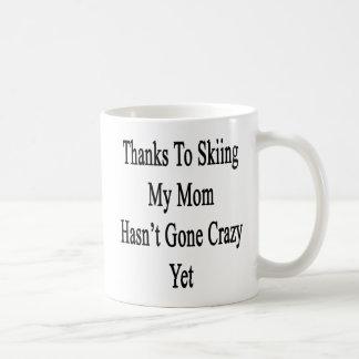 Thanks To Skiing My Mom Hasn't Gone Crazy Yet Classic White Coffee Mug